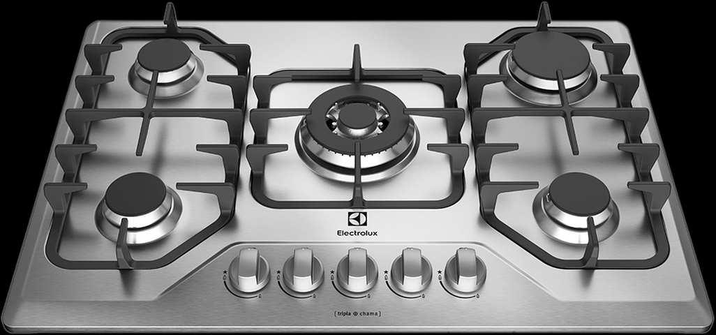 Medidas de Cooktop Electrolux Preto a Gás 5 bocas - GF75X