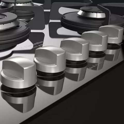 Medidas de Cooktop Electrolux Preto a Gás 5 bocas - GC75P
