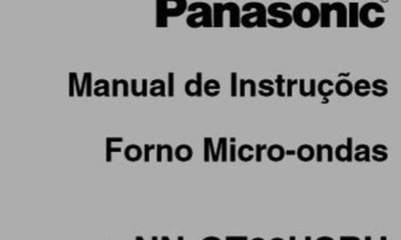 Manual Instruções Microondas Panasonic 30l Style Grill – GT68H – Parte 1