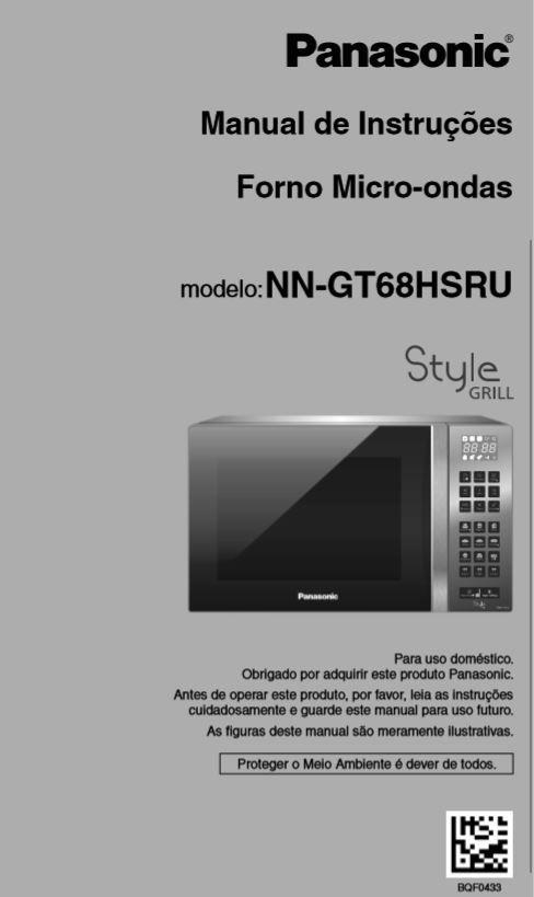 Manual de instruções do microondas Panasonic NN-GT68H - Capa