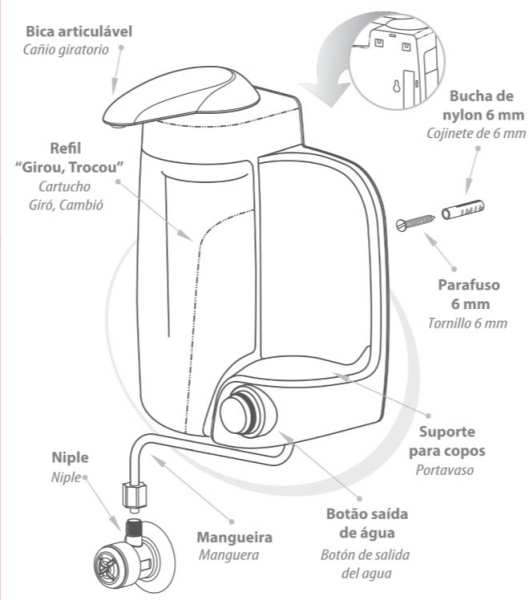 Medidas do Purificador de Água IBBL MIO Branco
