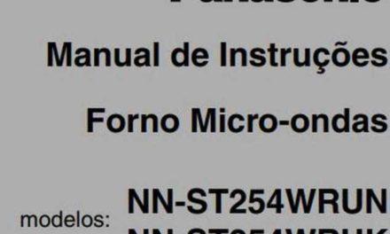 Manual de Instruções do Microondas Panasonic 21L Branco – NN-ST254