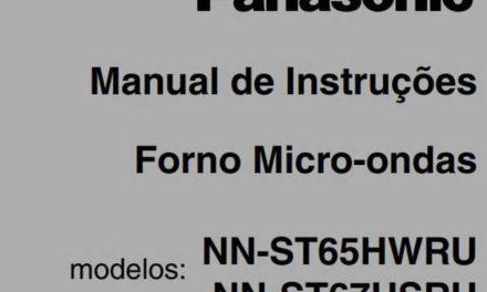 Manual de Instruções do Microondas Panasonic 32L Inox – NN-ST67H