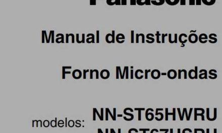 Manual de Instruções do Microondas Panasonic Style 32L Branco – NN-ST65H