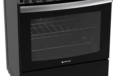 Medidas de Fogão de Piso Atlas Top Gourmet Glass Preto 5 Queimadores