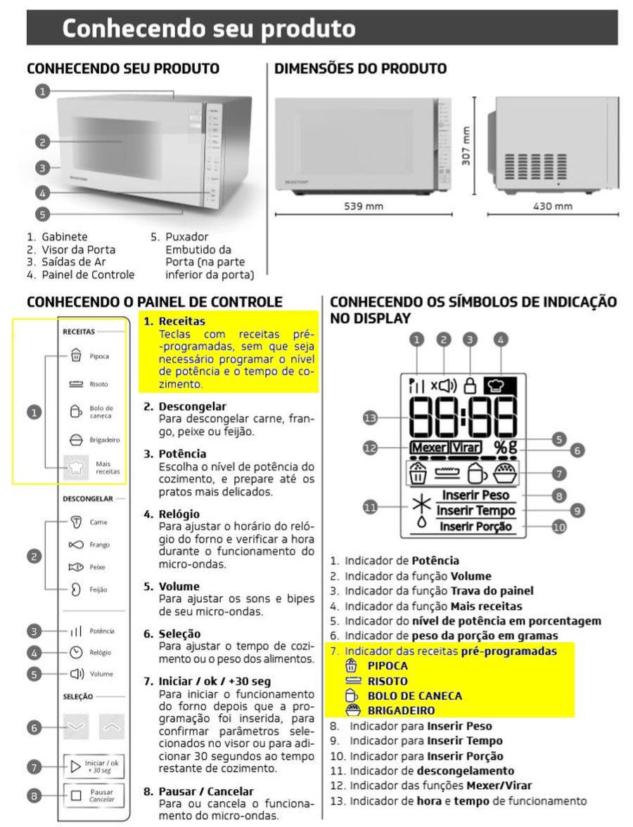 como preparar receita programada no microondas