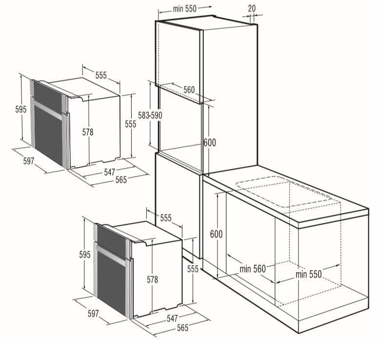 Instalação do forno elétrico Gorenje