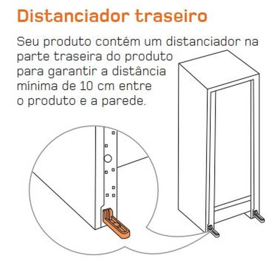 Manual de operação Geladeira Brastemp Frost Free Duplex BRM44 - Distanciador traseiro