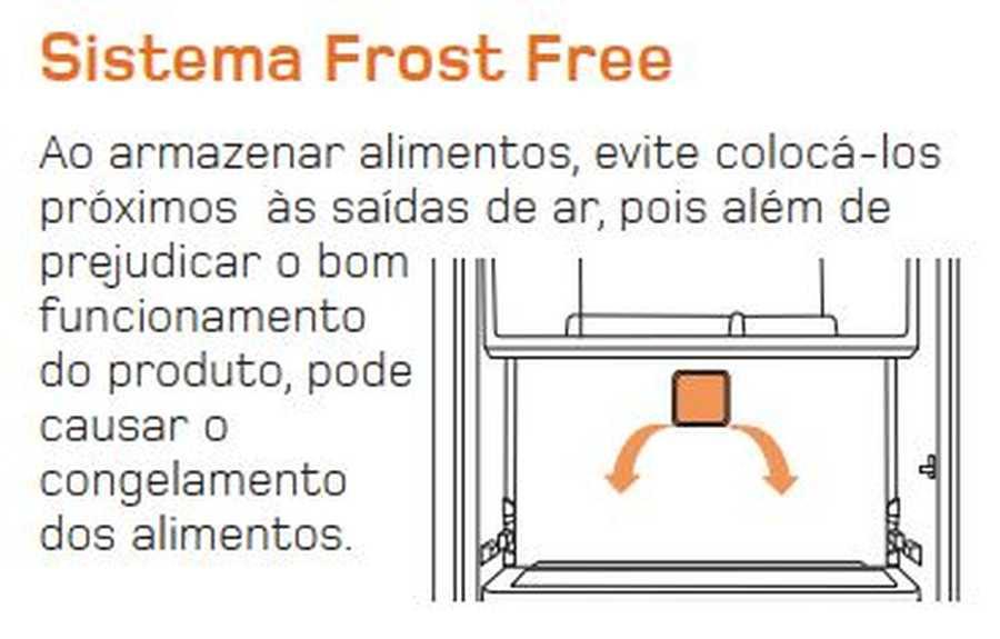 Manual de operação Geladeira Brastemp Frost Free Duplex BRM44 - Frost Free