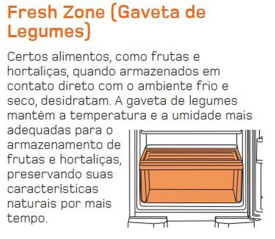 Manual de operação Geladeira Brastemp Frost Free Duplex BRM44 - Fresch Zone