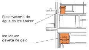 Geladeira brastemp - reservatório do ice maker