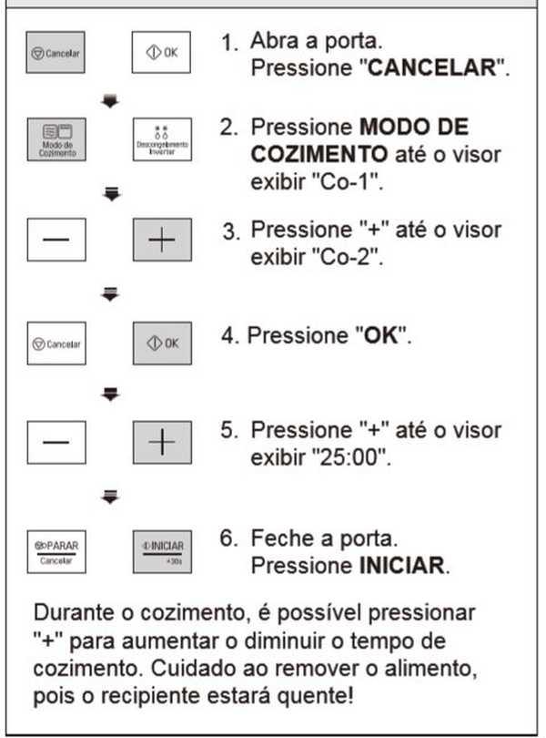 Como usar combinado do microondas LG