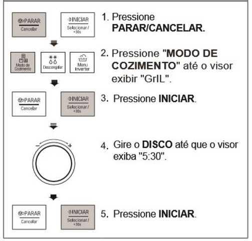 Como usar grill do microondas LG