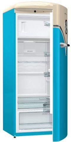 Dimensõe da geladeira Gorenje Retrô - OBRB153BL