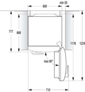 Instalação geladeira Gorenje