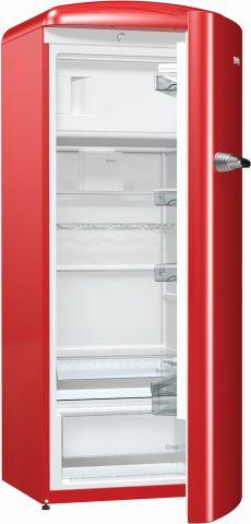 Dimensões da geladeira Gorenje 1 porta Vermelho 254 litros