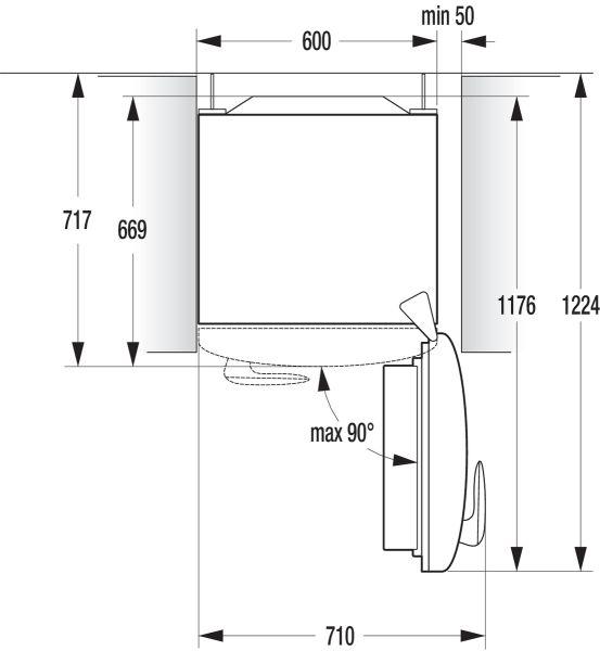 Instalação refrigerador Gorenje