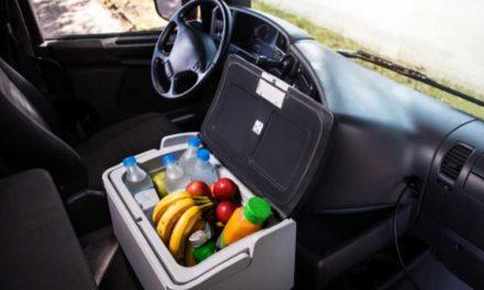Medidas da mini geladeira portátil veicular da marca Resfriar – Modelos