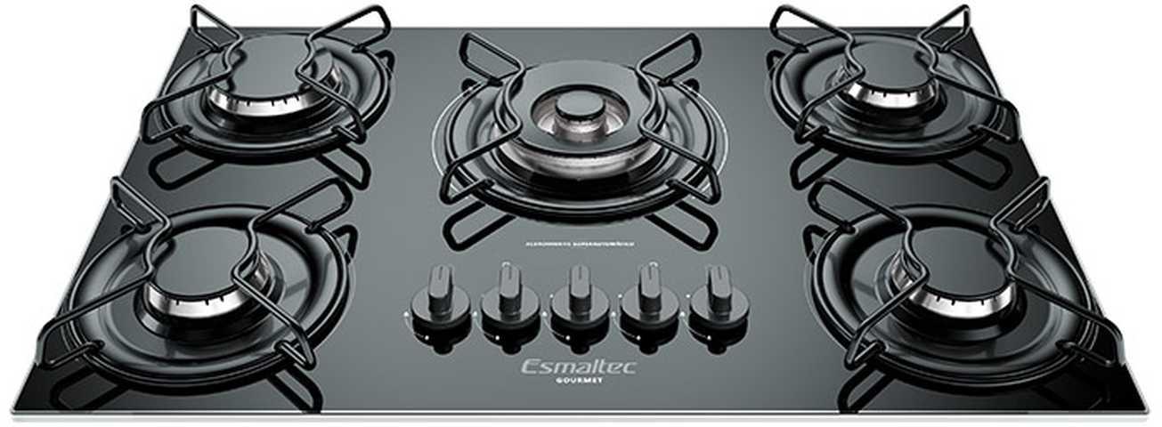 Medidas do cooktop Esmaltec 5 queimadores Gourmet