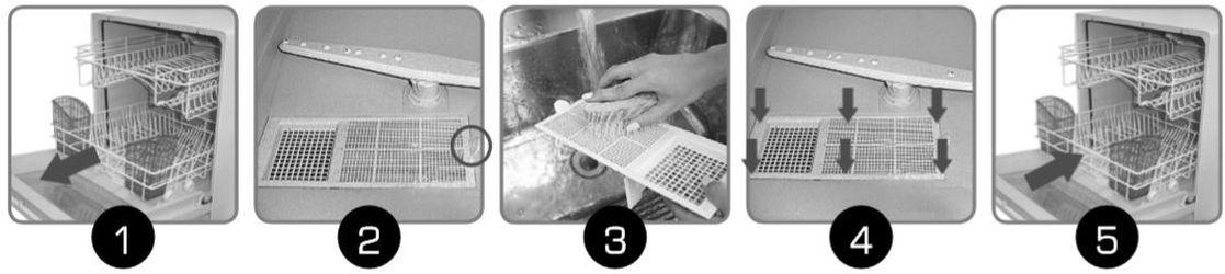 Limpeza do filtro lava louça brastemp