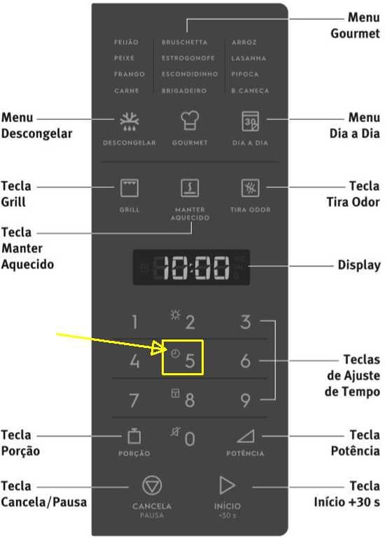 Como ajustar o relógio do Microondas Electrolux de Embutir 28 litros - MB38P
