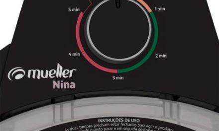 Medidas da Centrífuga de Roupas Mueller Nina 2,9 kg cor Preta