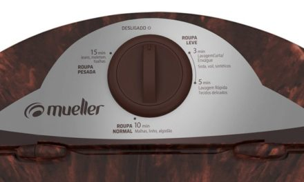 Medidas da Máquina de Lavar Roupas Mueller Plus 4,5Kg Marrom