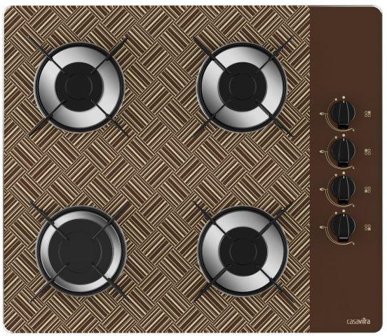Medidas de Cooktop Casavitra 4 queimadores - rápido - new vitra chocolate