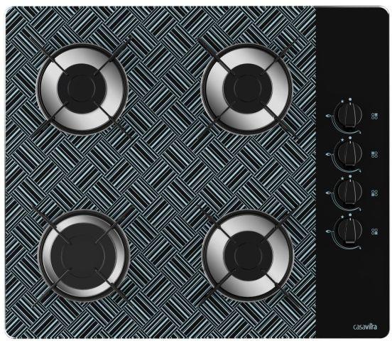 Medidas de Cooktop Casavitra 4 queimadores - rápido - new vitra preto
