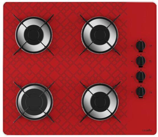 Medidas de Cooktop Casavitra 4 queimadores - rápido - Tetris vermelho
