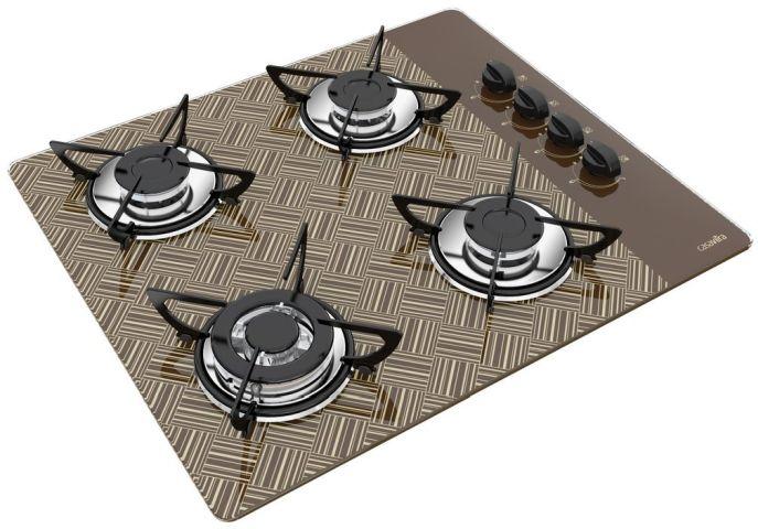 Medidas de Cooktop Casavitra 4 queimadores triplo - new vitra chocolate
