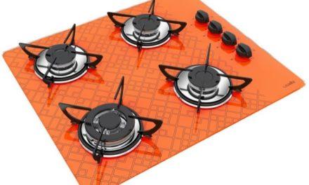 Medidas de Cooktop Tetris Laranja a Gás 4B Tripla Chama Casavitra