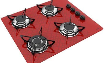 Medidas de Cooktop Tetris Vermelho a Gás 4B Tripla Chama Casavitra