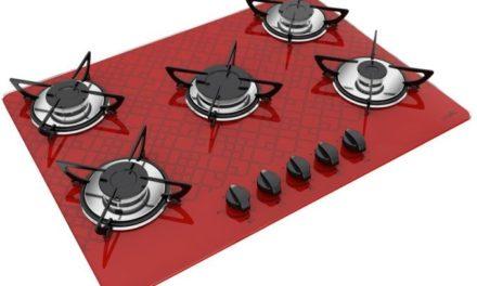 Medidas de Cooktop Tetris Vermelho a Gás 5B Rápida Casavitra