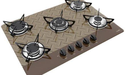 Medidas de Cooktop New Vitra Chocolate Gás 5B Tripla Chama Casavitra