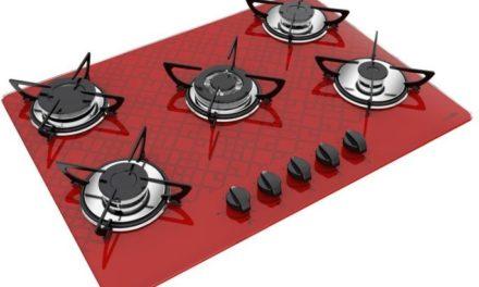 Medidas de Cooktop Tetris Vermelho a Gás 5B Tripla Chama Casavitra