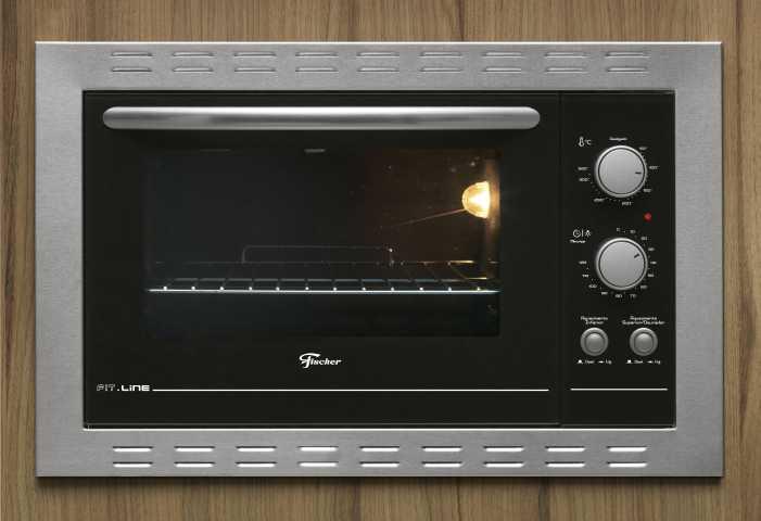 Como limpar o forno elétrico Fischer 44L de embutir 26817