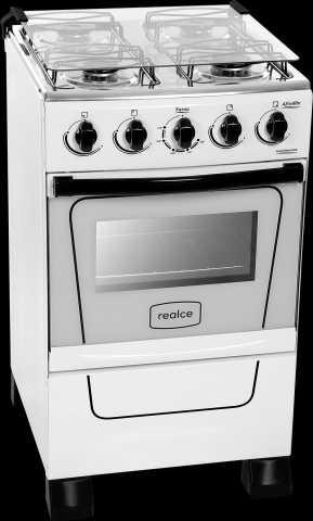 Medidas do fogão a gás Realce - Afrodite 4 bocas