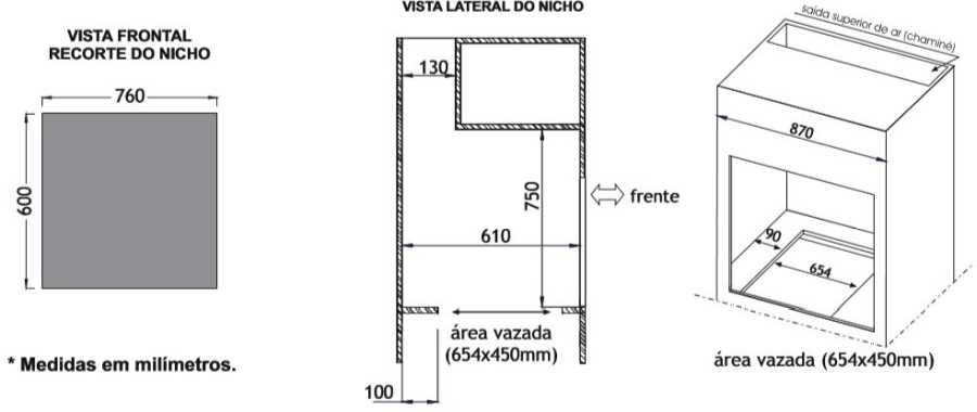 Instalação do forno a gás de embutir Venax 90L - Torre