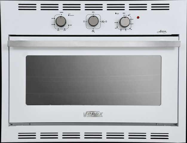 Medidas do forno a gás de embutir Venax 90L Arena Branco