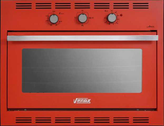 Medidas do forno a gás de embutir Venax 90L Arena Vermelho