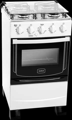 Medidas do fogão a gás Realce - Ares Plus Branco 4 bocas