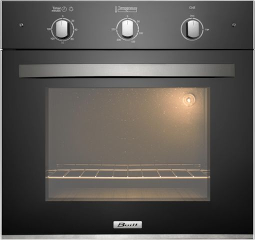 Medidas do forno elétrico de embutir Built 50 litros Preto
