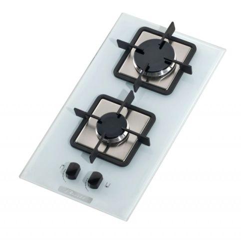 Medidas do cooktop Built 2 queimadores Vidro Branco