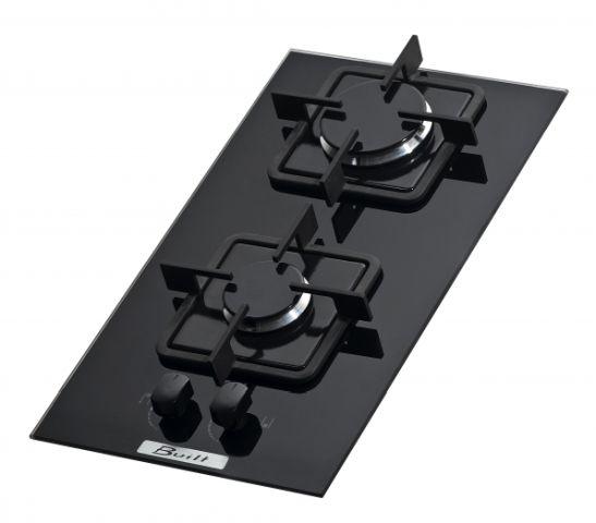 Medidas do cooktop Built 2 queimadores Preto