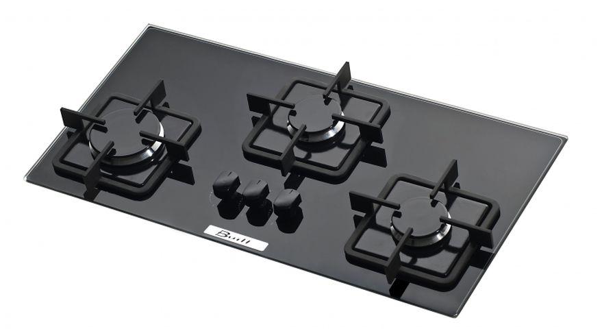Medidas do cooktop Built 3 queimadores slim preto
