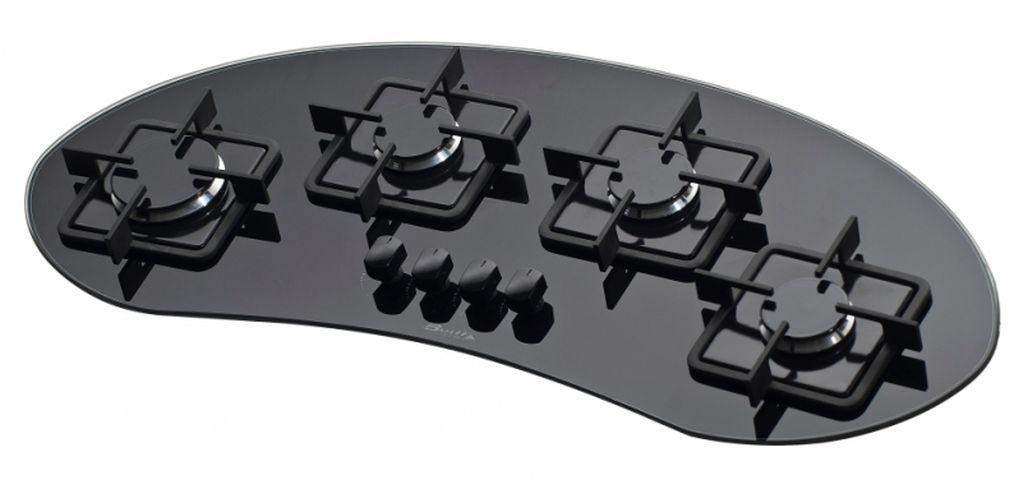 Medidas do cooktop Built 4 queimadores Delta preto