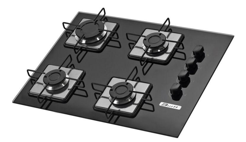 Medidas do cooktop Built 4 queimadores Preto Soft