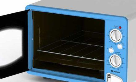 Medidas do Forno Elétrico Venax de Bancada Classic Vintage Azul