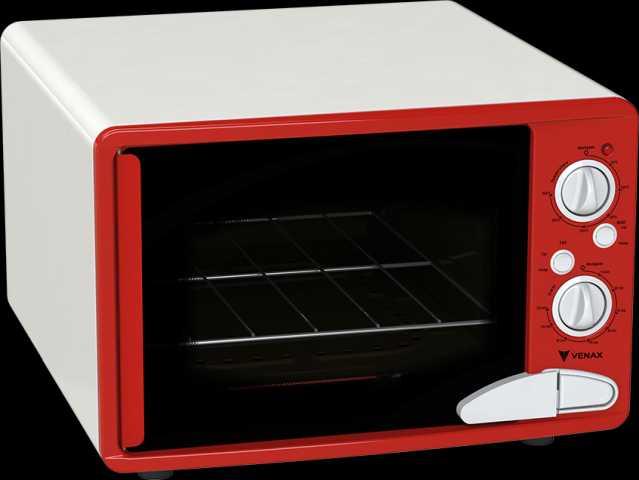 Medidas do forno elétrico Venax Vermelho classic